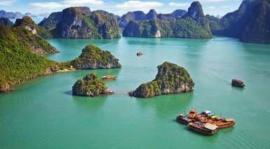 SUEÑOS DE ASIA - ESPECIAL NOVIOS      -                     Bahía de Ha-Long, Ha Long, Bangkok, Hanói, Siem Reap                     Angkor, Phuket, Ho chi Minh, Templo Wat Traimit, Wat Pho